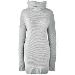 Lands End Gray Knit Turtle Neck Tunic